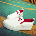 Spring And Summer Female Casual Shoes White Canvas Women Shoes Flat Heel  Shoes Pedal Shoes Lazy