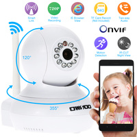 OWSOO Wireless 720P Surveillance IP Camera Wifi Mini CCTV P2P Camera P T IP Camera Support
