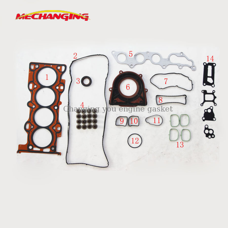 DURATEC HE CJBA FOR FORD ECOSPORT OR MONDEO III 2.0 Engine Gasket seal set Engine Rebuilding Kits Full Set  8LG1 10 271 50235400-in Engine Rebuilding Kits from Automobiles & Motorcycles    1