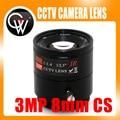 2 PS 8mm lente CS 3MP CS montaje HD cámara CCTV para Día/Noche CCD de seguridad cctv cámara del IP del envío libre