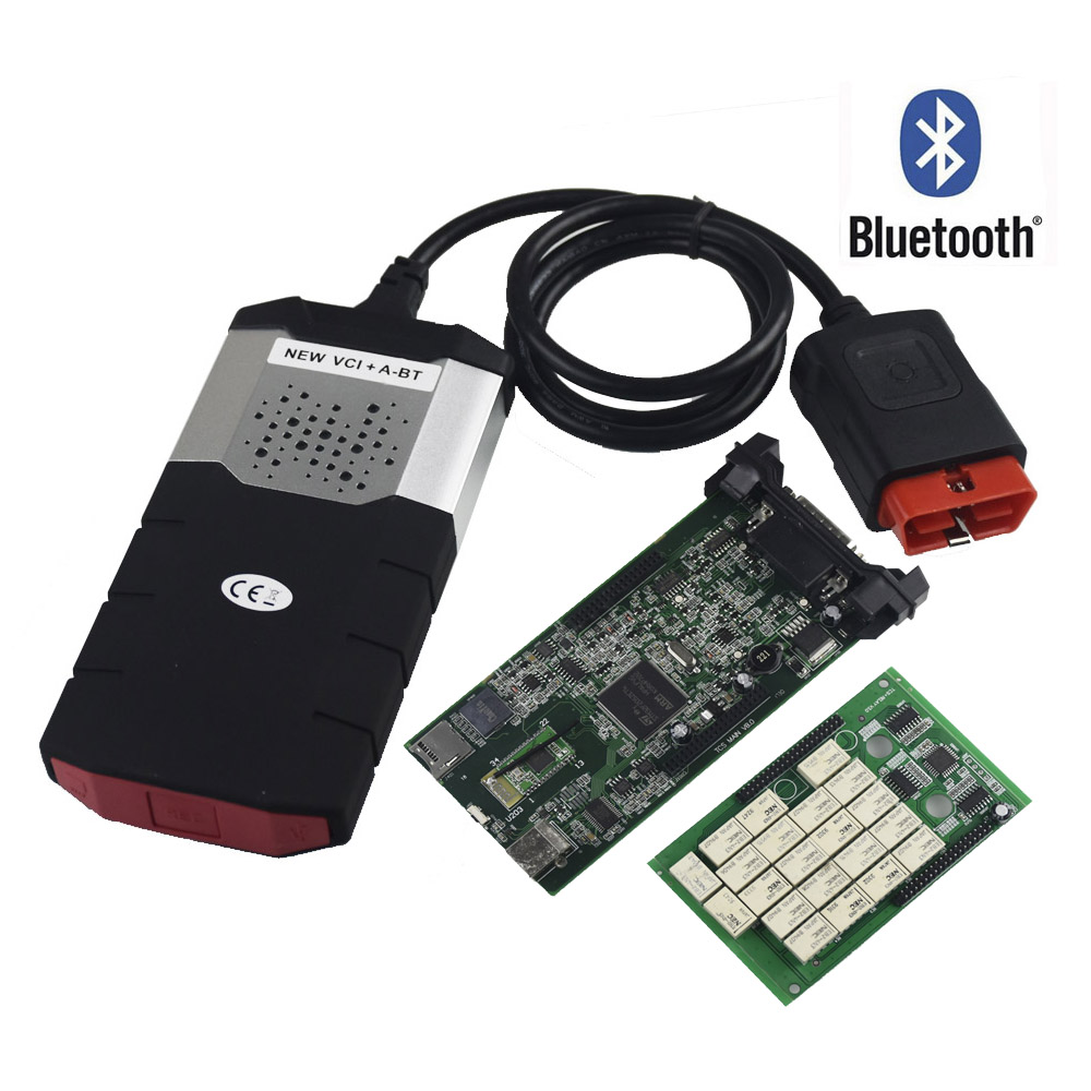 Per Delphis DS150E TCS CDP PRO Plus Bluetooth 2015. R3 keygen come Multidiag pro OBD2 OBD auto camion OBDII diagnostic tool New VCI