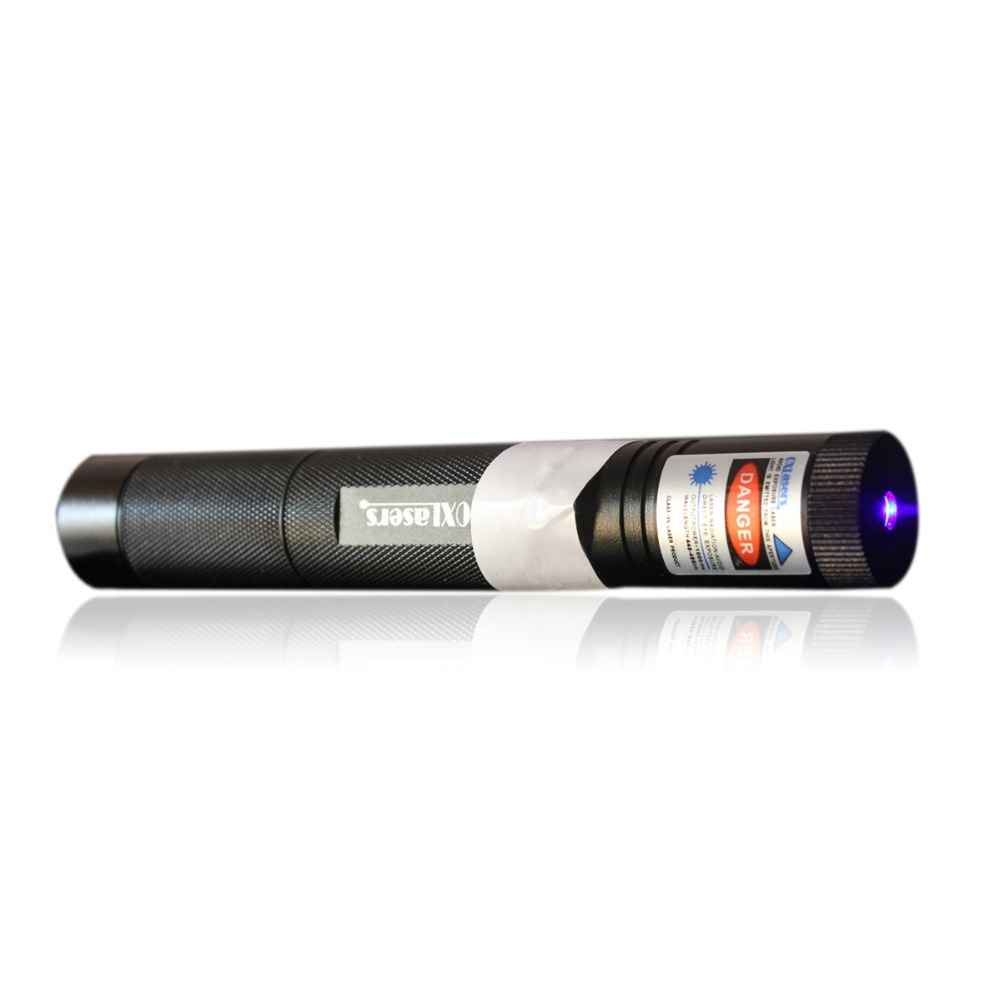 oxlasers 450nm 3000m 445nm focusable burning blue laser pointer with safety key lock laser flashlight free shipping newest hight quality 450nm blue light laser pointer pen power beam 5 heads with charger with goggles with box