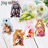 10pcs Jungle Animal Mini Candy Bag Birthday Party Decorations Kids Safari Party DIY Plastic Cookie Bags For Guests Baby Shower