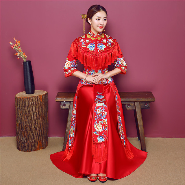 High Quality China Traditional Show bride dress clothes chinese ...