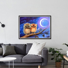 DIY 5D Diamond Painting Moon Animals Owl Diamond Cross Stitch Diamond Embroidery Full Rhinestones Christmas Gift роботы play smart робот трансформер огнеборец
