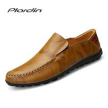 Plardin/2017 Four Seasons модная мужская Разделение кожа мягкая удобная Повседневное Вышивание супер волокнистого материала для мужчин кожаные ботинки