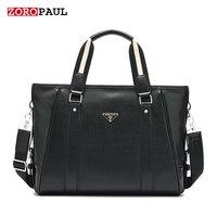 ZOROPAUL Men S Fashion Messenger Shoulder Men Famous Brands Tote Business Shoulder Designer Handbags High Quality
