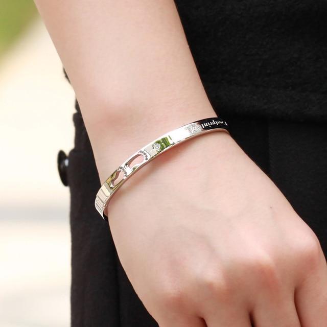 Купить браслет из титановой стали обручи с цирконом для пар подарки