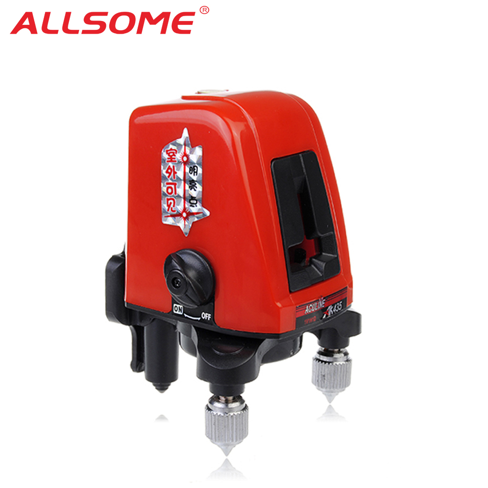 AK435 Laser Leveling Unit Mini Portable Red 3D Laser Level 360 Distance Meter Level Laser Line Measure As Construction Tools