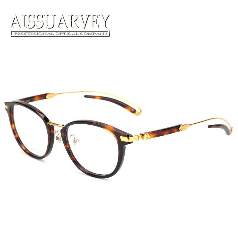 Mode lunettes cadres hommes femmes marque Designer optique Vintage Prescription ronde spéciale Top qualité luxe lunettes lunettes