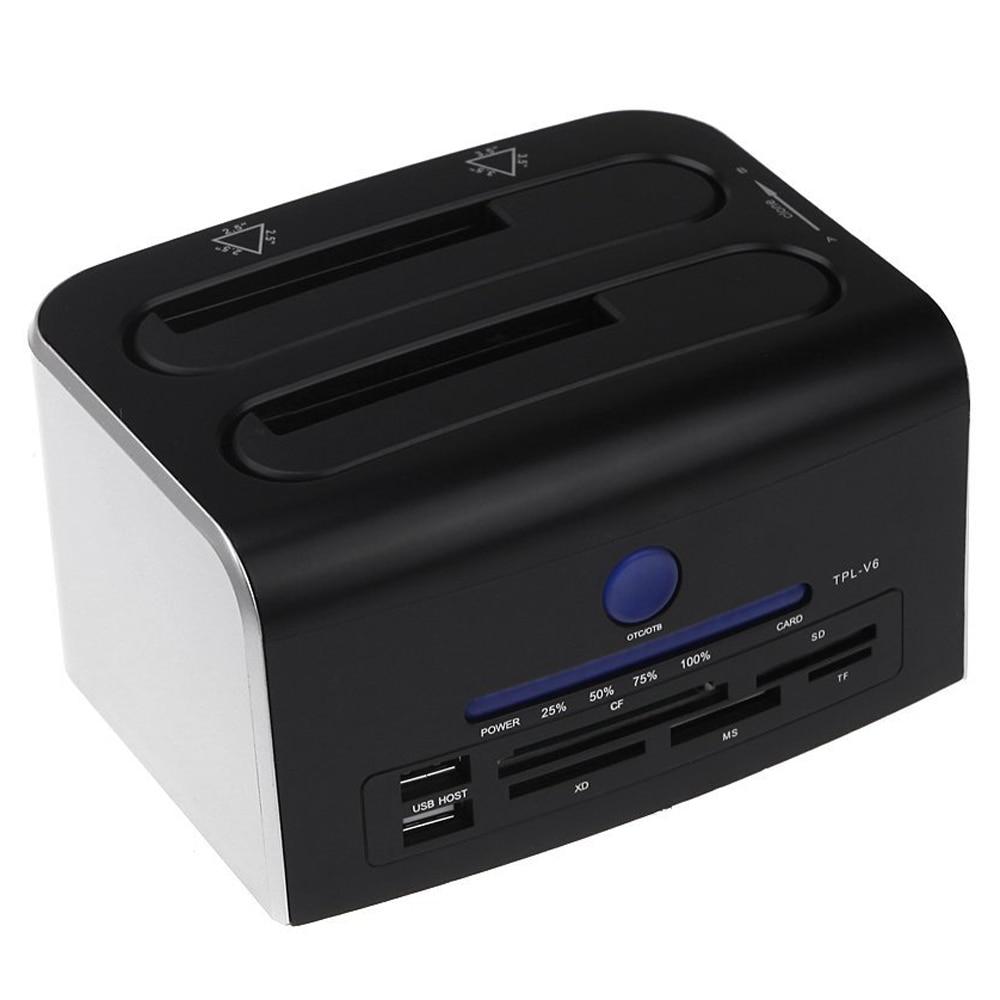 "CAA 2.5"" 3.5"" Dual SATA USB 3.0 HDD Dock Docking Station ..."