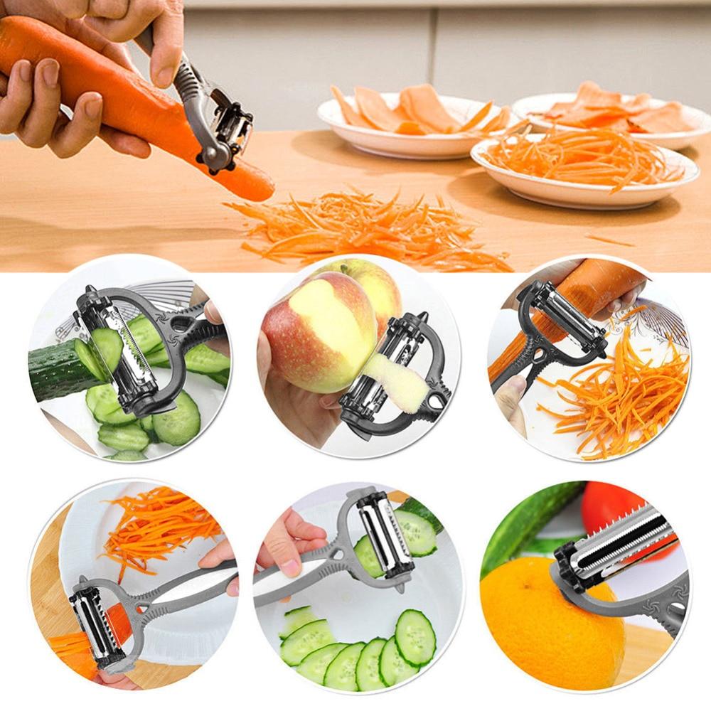 360 Degree Rotary Carrot Potato Peeler Gadget Vegetable Fruit turnip Slicer ~PL
