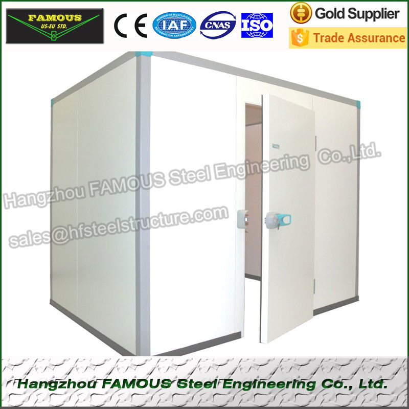 Insulated Sandwich PU Cold Room Wall Panels For Refrigeration Unit And Deep Freezer Cold Rooms Industrial Blast Freezers