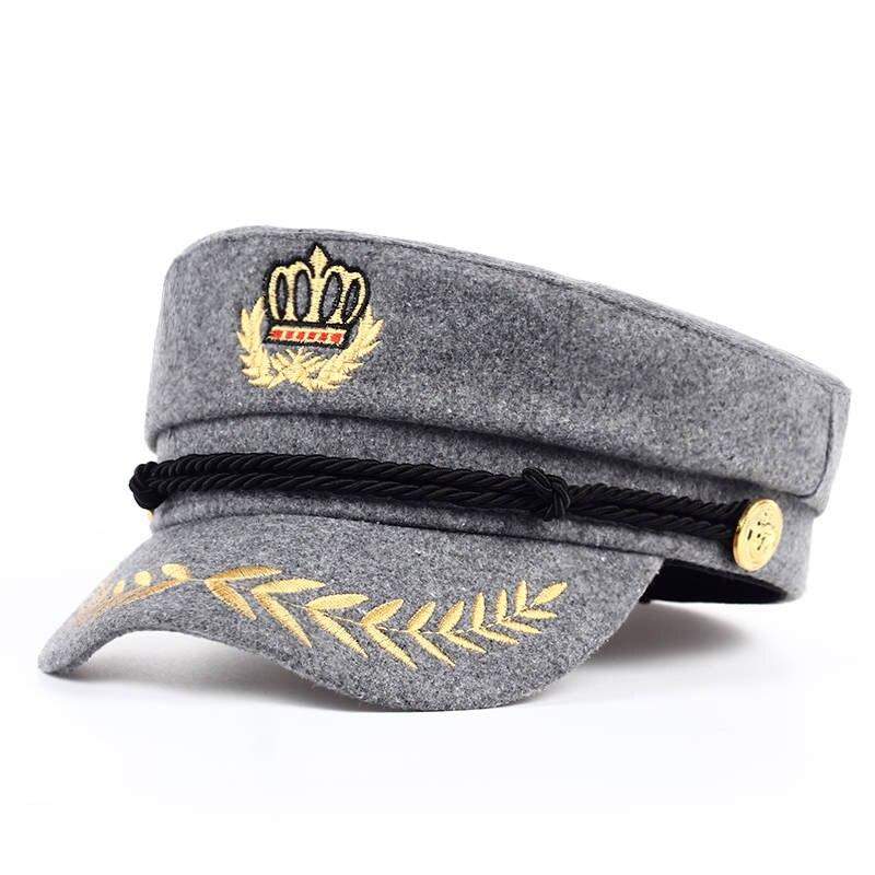 VORON navy Hat Winter   baseball     Cap   Flat Top Hats For Women Black gray red Male Female Casquette Militaire Gorra   cap