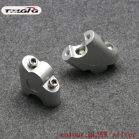 "Anodized 2 Inch Pivoting Motorcycle Handlebar Riser For 7/8"" 22mm fat handleBars Clamp Universal Handlebar     -"