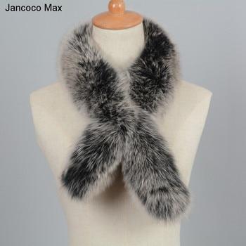 Jancoco Max 2018 Real Fox Fur Scarf Winter Warm Fashion Style Shawls For Women Soft Muffler Wholesale/ Retail S7196