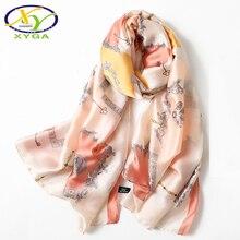 New Luxury Silk Women Long Scarf Spring Fashion Lady Polyester Shawl Thin Summer Beach Soft Satin Wraps Muslim Scarves Autumn