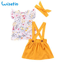 Wisefin детская одежда для малышки повязка малыша комбинезоны для девочек шорты женщин комплект летней детской одежды одежда, комплекты для но...