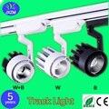 Luzes de pista de LED de iluminação 20 W loja de roupas fundo salão montado superfície do teto COB Faixa de Luz AC110V 220 V livre grátis
