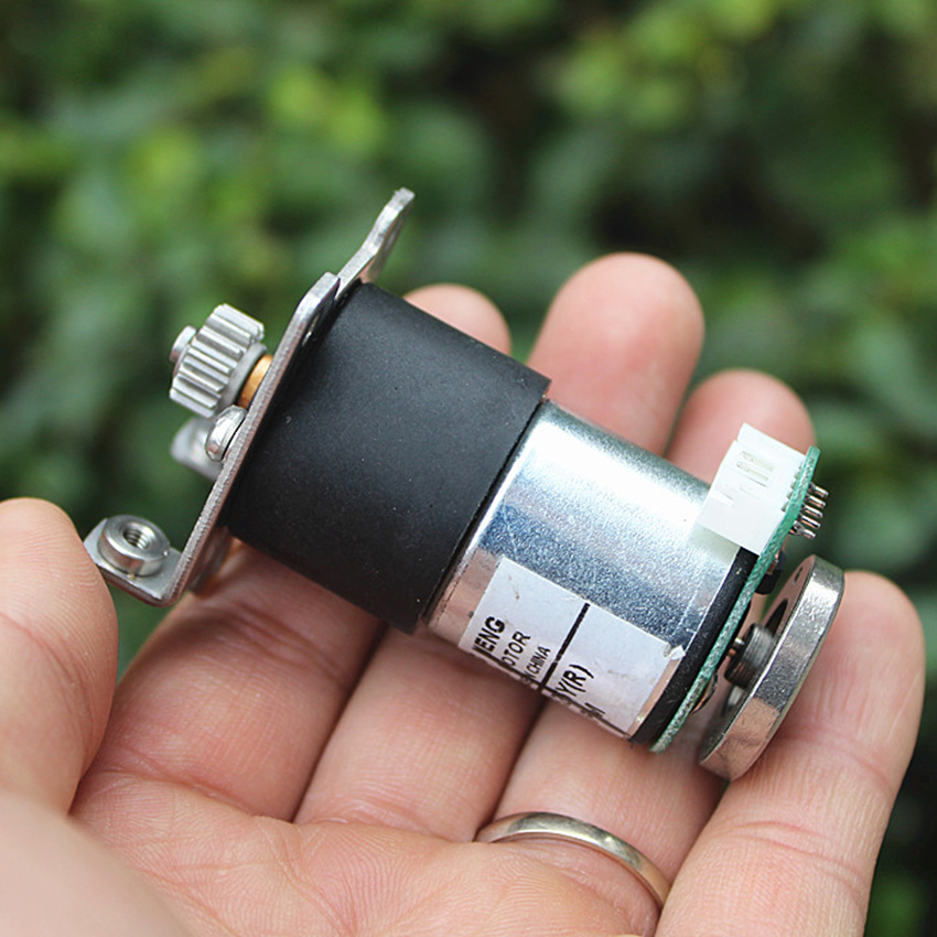 Home Improvement Rapture Dc Gear Motor With Encoder All Metal Gear Dc 12v Geared Motor Code Wheel Speed Test Car/robot 70 Rpm/min Reduction Ratio 1:90 Street Price