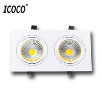 ICOCO 3W COB LED Spot Light Dual Heads Clothes Shop Ceiling Lamp Exhibition Hall Gallery Toggery Decoration Down Lamp