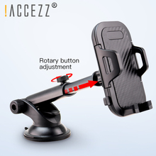 цена на !ACCEZZ Car Holder Auto Locking Stand For iPhone XS Universal Phone 360 Degree Rotation Center Control Glass GPS Support Bracket