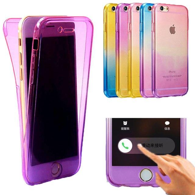 1da9e1b13a8 Funda protectora completa suave Arco Iris funda Para iPhone 6 6 s 7 Plus 5  5S