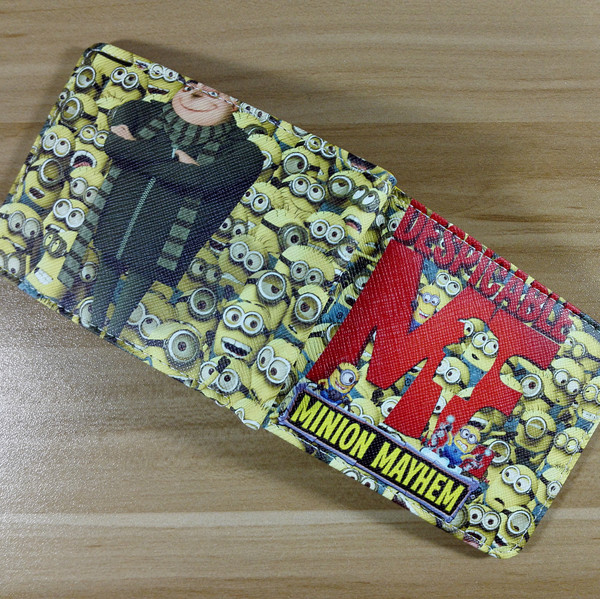 f04dd239ffbb9 2018 European and American Style Wallet Minions Mayhem Purses Women Men s  Wallets Money Clip Designer Short