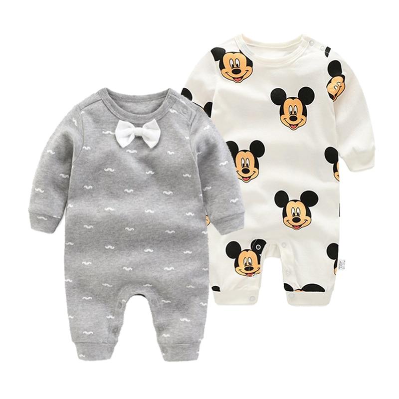2018 pasgeboren baby jongens meisjes rompertjes lange mouwen mode - Babykleding