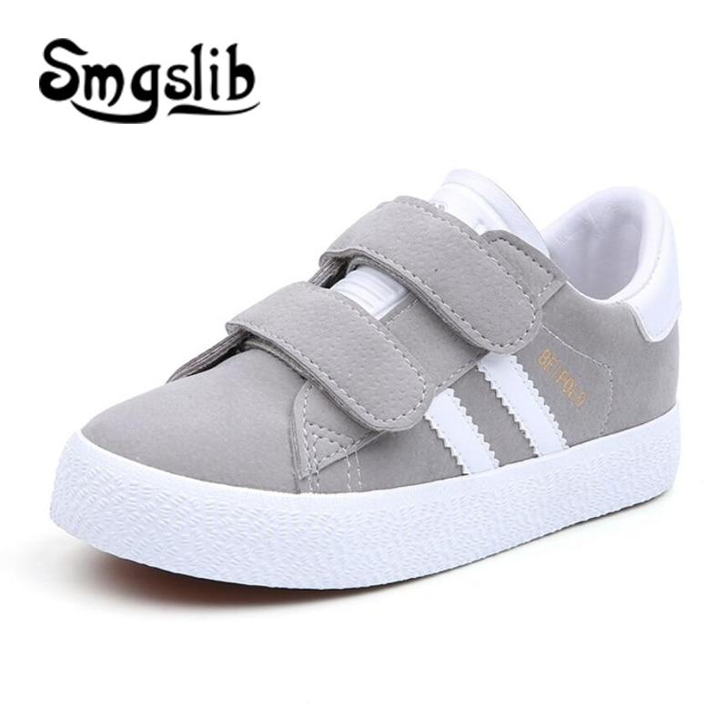 Crianças sapatos respiram meninos esporte formadores sapatos casuais da escola do bebê tênis de couro plana 2018 meninas da criança tênis