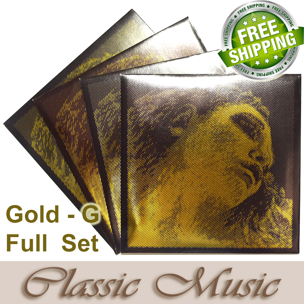 Free shipping ,4/4 Evah Pirazzi Gold Violin Strings Full Set (Gold G), Set Ball End, made in Germany розовая вода 100 мл hashmi