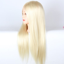 White Hair Mannequin Hairstyling Hairdressing Training Head 21inch Hair Mannequin Head Cosmetology Manikin Head For Practice