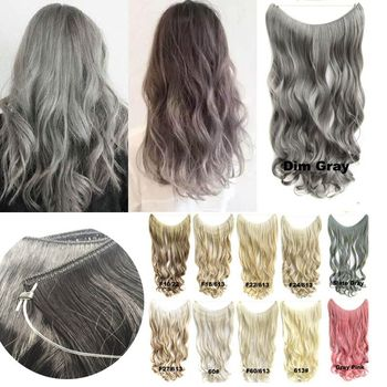 Synthetic Wavy String Hair Extension Invisible Wire No Clip No Glue z fibich string quartet no 2 op 8