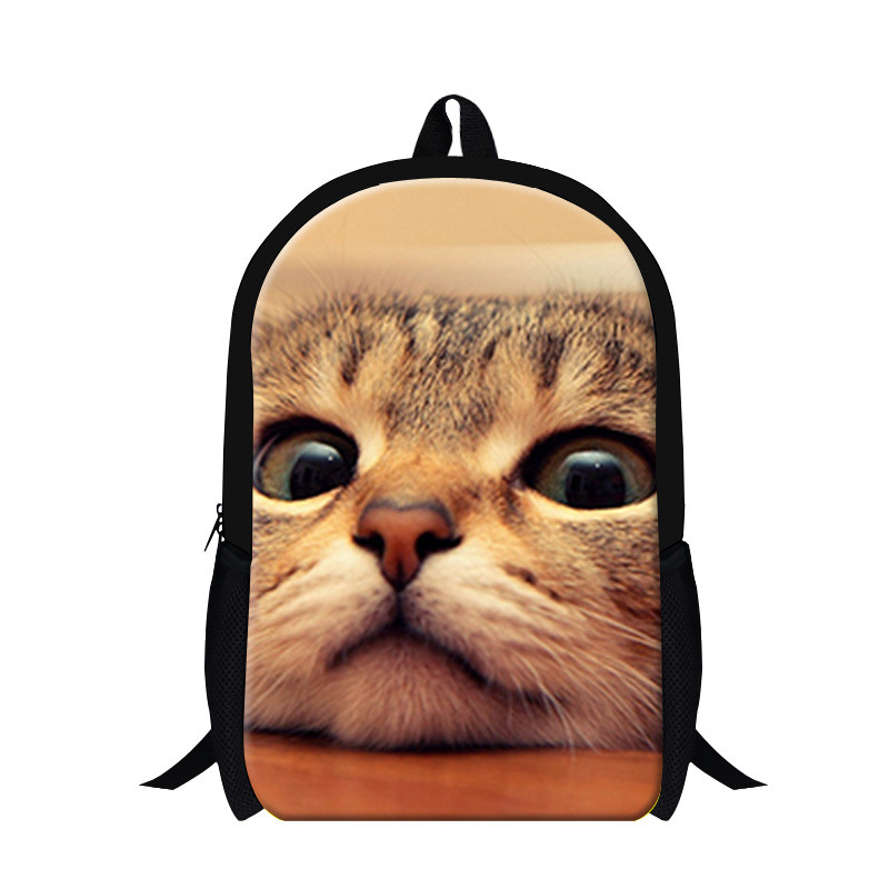 Cat Fashion Children School bags Cute 3D Animal Cat Schoolbag for Girls Casual Kids Women Shoulder School Book bag