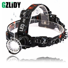 Super Bright LED Headlamp T6 Headlight zoomable headlamp 3 Modes Rotate Zoomable Headlamps Use AA batteries