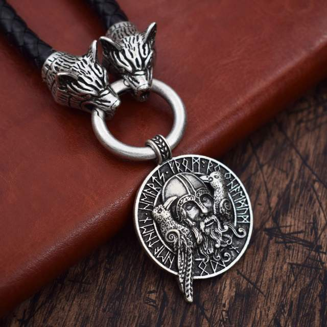 Us 9 0 Norse Odin Viking Pendant Norse Raven Wolf Thor Hammer Viking Mjolnir Symbol Scandinavian With Raven Necklace Jewelry 9 Styles In Pendants