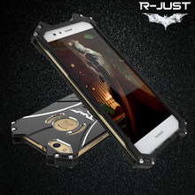 R-JUST BATMAN Luxury Doom Heavy Duty Armor Metal Aluminum Phone Case For Huawei P10 Plus P9 Honor 8 V9 Mate 7 8 9 10 Pro Lite(China)