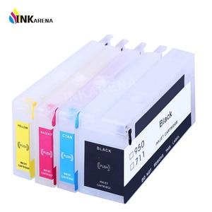 Image 1 - INKARENA Compatible Cartridge Replacement For HP 711 XL Refillable Inkjet Cartridge Reset Chip Deskjet T520 T120 Printer