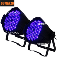 2pcs/lot UV light 54pcs 3W led par can led 54 3w par light Holiday lighting Christmas for dj party purple led lamp DMX Club
