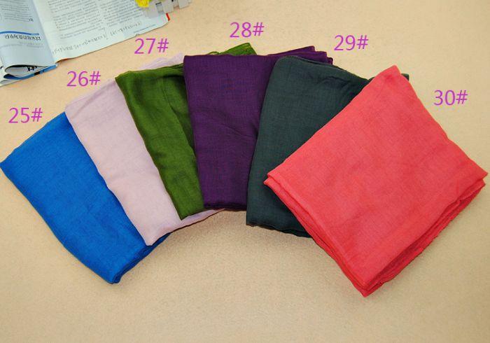 Frauen printe einfache Schals Viskose 100% langes festes moslemisches - Bekleidungszubehör - Foto 3