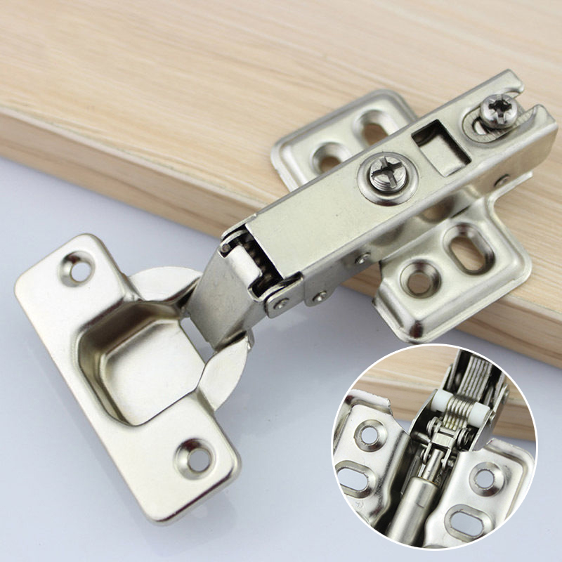 Hinge Rustless Iron Hydraulic Hinge Iron Core Damper Buffer Cabinet Cupboard Door Hinges Soft Close Furniture Hardware 2 pieces viborg top quality sus304 stainless steel inset hinge soft close self closing cabinet cupboard door hinges inset