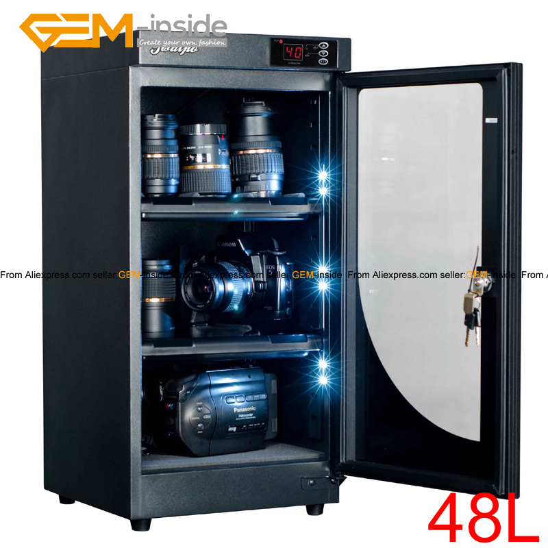 21L 38L 48L 68L 88L Electronic Dry Cabinet Storage For Camera Lens Paintings Antiques Jewelry EMS Is Free electronic dry cabinet moisture proof box slrs lens protect 80liter super capacity