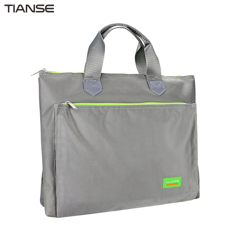 все цены на TIANSE Simple Fashion Design Zipper File Bag Waterproof Durable Business Document File Bags With Soft Handle Portable Handbag онлайн