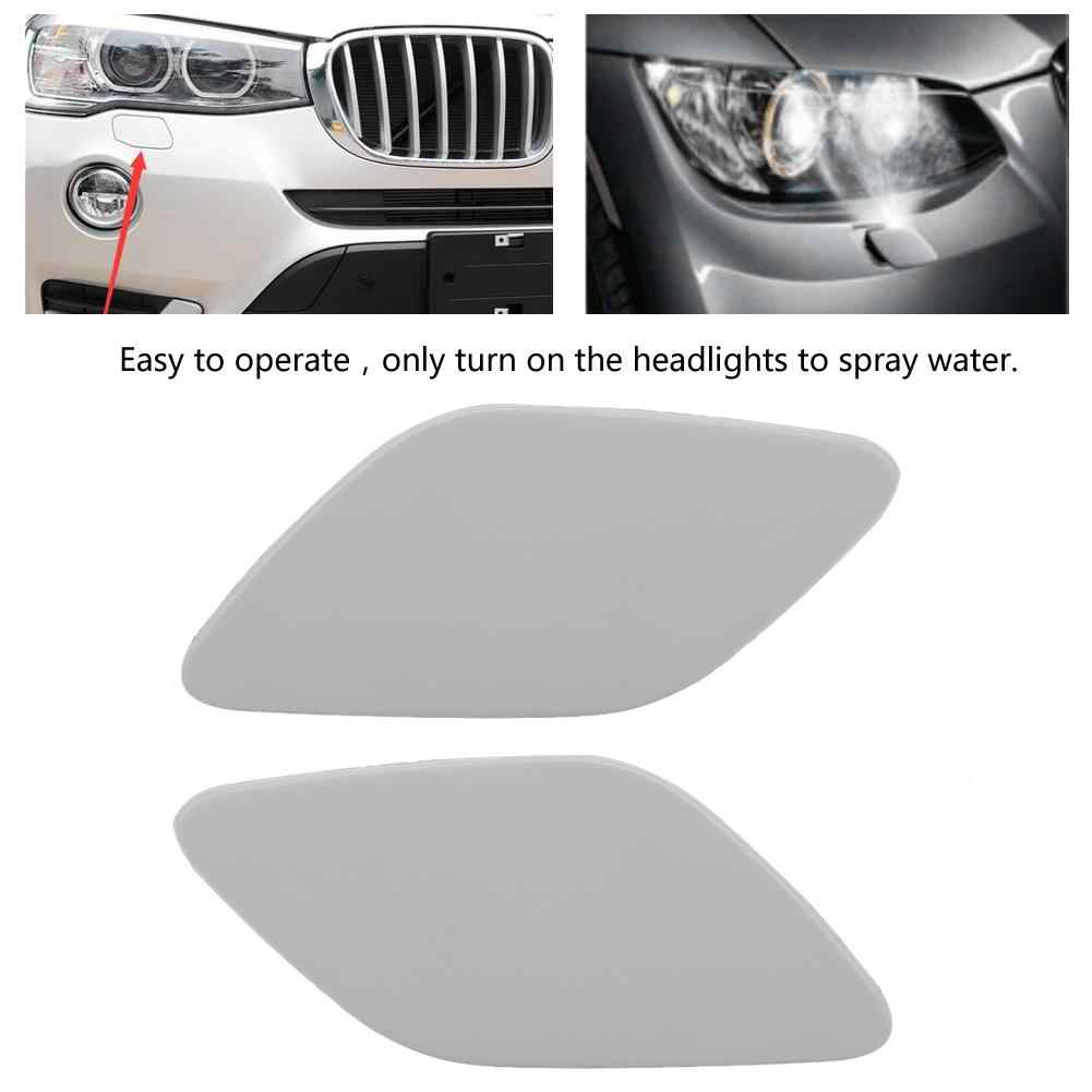 hight resolution of 1pc car front headlight washer cover cap lamp flap bumper trim for bmw 3 series