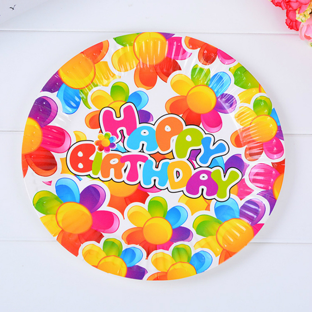 6pcs/pack 7inch Cute Sunflower Disposable Plates High Quality Paperboard Plate Event Children Birthday Party  sc 1 st  AliExpress.com & 6pcs/pack 7inch Cute Sunflower Disposable Plates High Quality ...