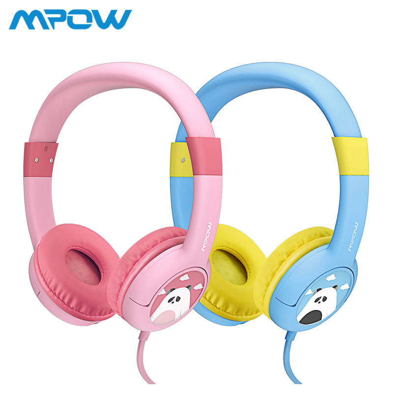 2-Pack Mpow BH181 Wired Headphones Kids Headset Gift For Kids Boys Girls Max 85db Soft Ear pads For iPhone iPod MP3 MP4 laptop цены