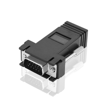RJ45 to VGA Extender Male to LAN CAT5 CAT6 RJ45 Network Ethernet Cable Female Adapter Computer Extra Switch Converter