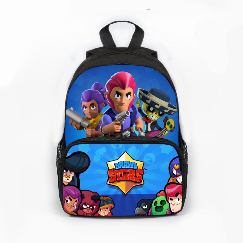13 Inch Cute Brawl Stars Backpack School Bags Lovely Printed School Back Pack For Girls Bookbag Children Gift Customized