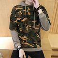 New 2017 Mens Fake two Hoody Jacket Sweatshirt Army Green Camouflage Hooded Male Top Outerwear 3 Colors Boutique Men Loose Coat
