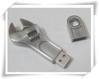 d1ee37915871 Usb Stick Spanner metal usb flash drives USB 2.0 Memory Drive Stick  Pen Thumb Car 4gb 8gb 16gb 32gb 64gb S122